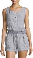 Max Studio Sleeveless Cotton Short Jumpsuit, Chambray