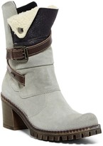 Manas Design Faux Shearling Mid Suede Boot