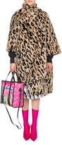Balenciaga Leopard-Print Faux Fur Opera Coat