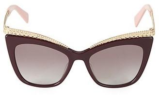 Moschino 52MM Cat Eye Sunglasses