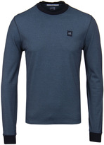 Cp Company Navy Tacting Crew Neck T-slong Sleeve T-shirt
