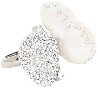 Givenchy Crystal and pearl ring