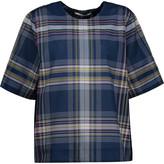 Rosetta Getty Plaid cotton-blend T-shirt