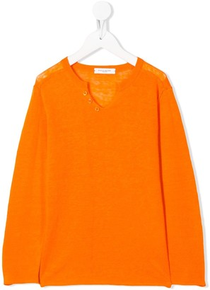 Paolo Pecora Kids button-embellished long-sleeved T-shirt