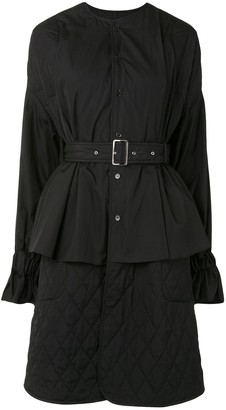 Comme des Garcons Belted / Quilted Cape Shirt