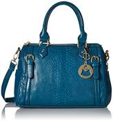 MG Collection Talia Snake Bowling Top Handle Bag