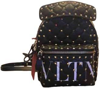 Valentino Rockstud spike Black Leather Backpacks