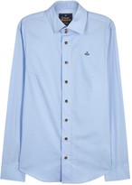 Vivienne Westwood Light Blue Stretch Cotton Shirt