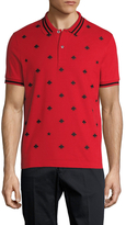 Gucci Bee Embroidered Pique Polo