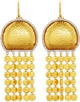 Gurhan 24k Large Diamond Moon Tassel Drop Earrings, 0.65tcw