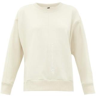 adidas by Stella McCartney Logo-embroidered Cotton Sweatshirt - Womens - Cream