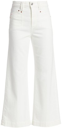 Paige Anessa High-Rise Ankle Flare Jeans