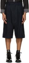 Kidill Blue Check Tuck Shorts