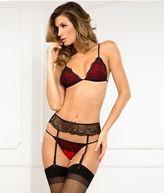 Rene Rofe Crown Pleasure Garter Set Lingerie - Women's