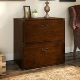 Kathy Ireland Home By Bush Furniture Ironworks L-Shape Desk Home by Bush Furniture Color: Coastal Cherry