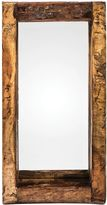 Casa Uno Recycled Wood Oil Pot Wall Mirror