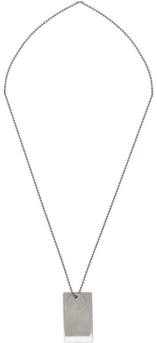 Jil Sander Silver Multi Tag Pendant Necklace