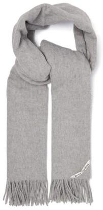 Acne Studios Canada Fringed Wool Scarf - Grey