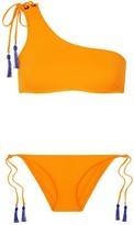 Emma Pake Maria And Lia One-shoulder Tasseled Bikini