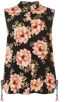 Dorothy Perkins DP Curve Black Floral Print Shirt
