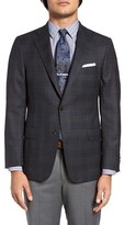 Hickey Freeman Men's Classic Fit Plaid Wool Sport Coat