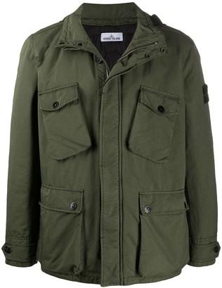 Stone Island David-TC concealed hood jacket