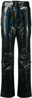 Fendi Hologram Effect Straight-Cut Trousers