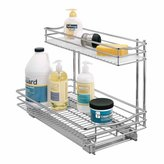 Lynk Professional Roll Out Under Sink Cabinet Organizer - Pull Out Two Tier Sliding Shelf - 11.5 in. wide x 18 inch deep
