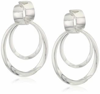 Anne Klein Women's Doorknocker Drop Earrings