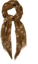 Alexander McQueen Skull-print modal and silk-blend scarf