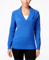 Karen Scott Marled Shawl-Collar Sweater, Only at Macy's