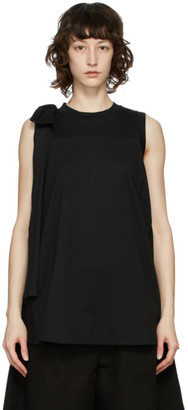 Simone Rocha Black Bow Tank Top