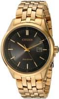 Citizen Men's 'Eco-Drive Dress' Quartz and Stainless-Steel Automatic Watch, Color: -Toned (Model: BM7252-51E)