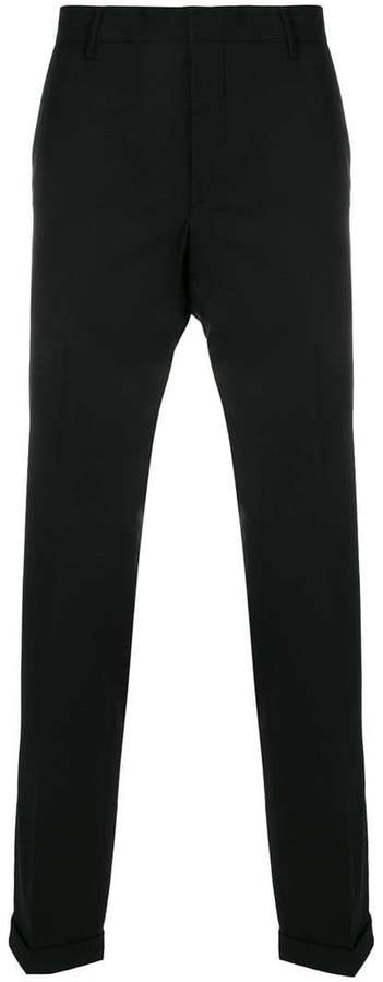 Prada pleated tapered trousers