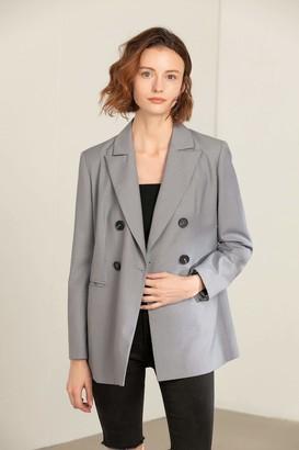 J.ING Aphex Grey Oversize Blazer