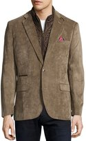English Laundry Corduroy Quilted Combo Blazer, Tan