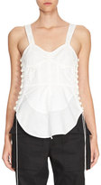 Chloé Sleeveless Corset-Detail Top, White