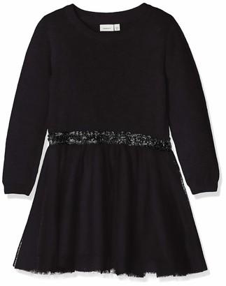 Name It Girl's Nkfralukka Ls Knit Dress Noos