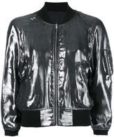 R 13 metallic bomber jacket - women - Silk/Cotton/Nylon/Spandex/Elastane - L