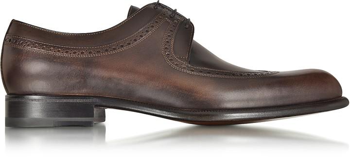 a. testoni A.Testoni Moro Washed Leather Derby Shoe