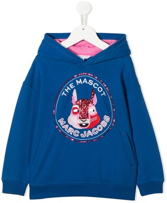 The Marc Jacobs Kids The Mascot sequin-embroidered hoodie