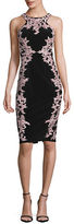 Xscape Evenings ?Floral-Embroidered Sheath Dress