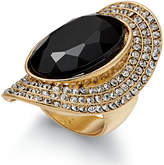 INC International Concepts Gold-Tone Large Stone Halo Statement Ring, Created for Macy's