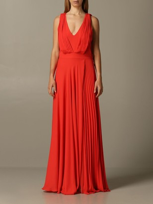 Hanita Long Dress In Pleated Fabric