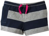 Burt's Bees Baby Rugby Stripe Shorts (Toddler/Kid) - Midnight-4T