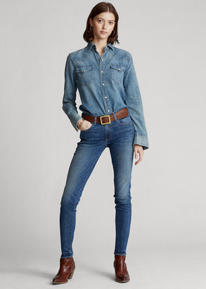 Ralph Lauren Tompkins Skinny Jean with Pony