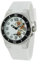 Ed Hardy Women's FU-FL Fusion White Watch