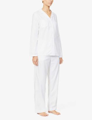 Derek Rose Long-sleeved cotton pyjama set