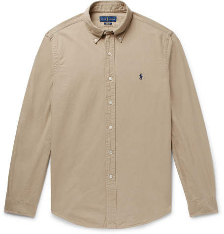 6347fd56 Brown Oxford Shirt - ShopStyle