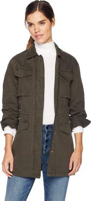 Levi's Women Cotton Four Pocket Oversized Military Jacket